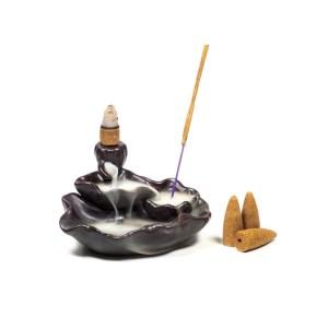 Brûleur d'encens à refoulement étang de Lotus 1