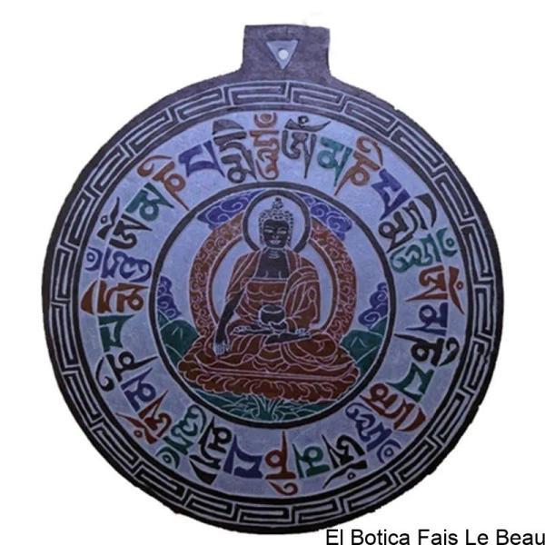 Basrelief en ardoise avec Bouddha OMPH