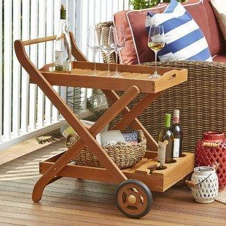 Eucalyptus+Patio+Serving+Cart