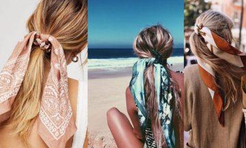 Φέτος στις διακοπές απλά δέσε ένα μαντήλι στα μαλλιά σου