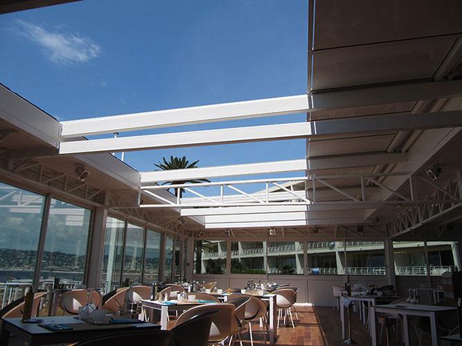 Toiture coulissante toiture ouvrante toiture mobile veranda avec Toitel