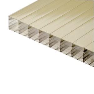 plaque polycarbonate alveolaire gold 32 mm 1 25 m longueur de 2 a 7 m