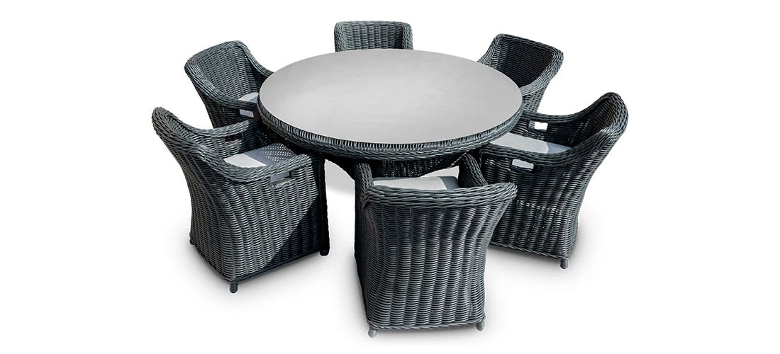 Dining Set For 6 Round Table Toja Patio Furniture