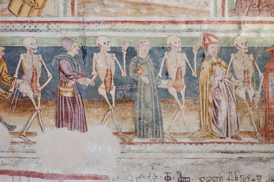 Prizor mrtvaškega plesa, Cerkev Svete Trojice, Hrastovlje
