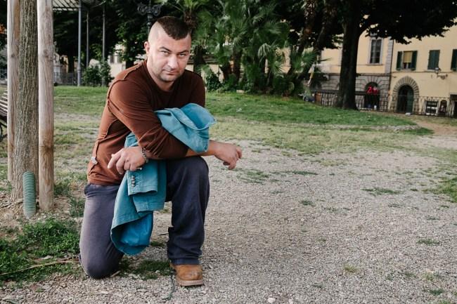 Naključni človek, ki je poziral v Firencah