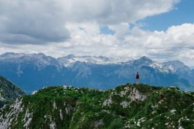Krasji vrh, med Bovcem in Kobaridom