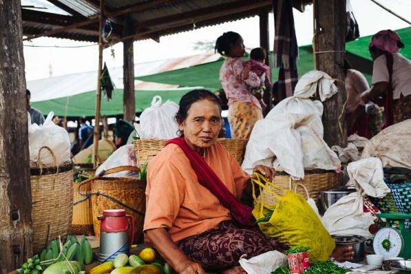 5-dnevna tržnica, jezero Inle, Mjanmar