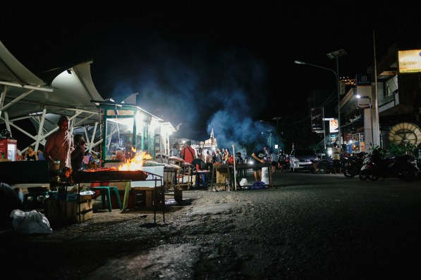 Night Market, Labuan Bajo, Flores, Indonezija