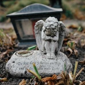 Kipec angelčka, Pokopališče brezimnih, Dunaj