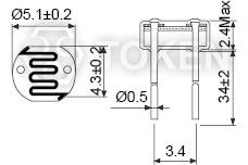 CdS Light-Dependent Photoresistors for Sensor Applications