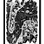 Grande affiche ARCACHON – CAP FERRET