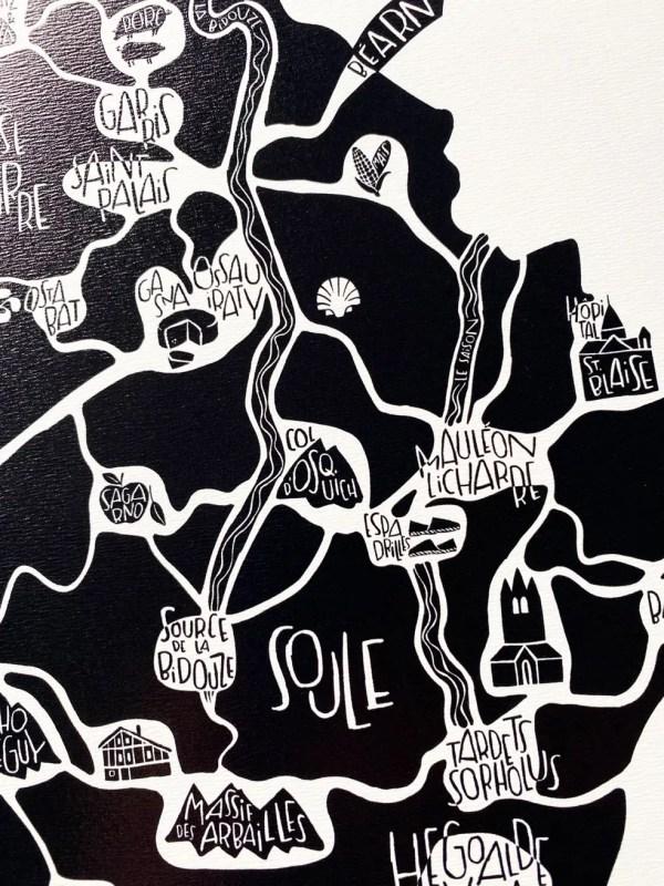 Zoom plan de ville Pays Basque Nord - Tokiko