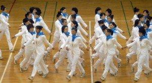 synchronized walking