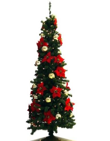 gambar rangkaian bunga natal