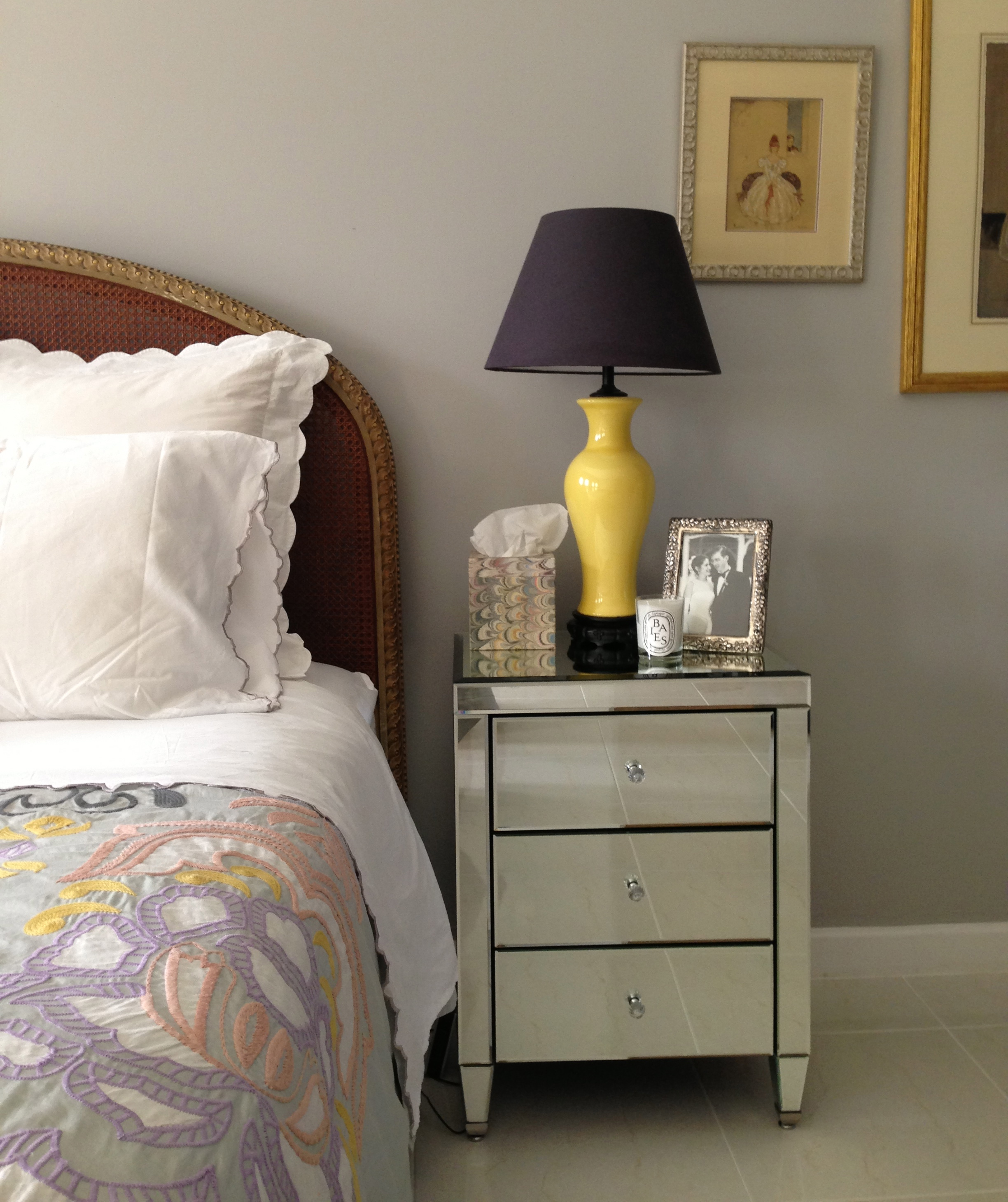 Doha Master Bedroom Uodated Yellow Imperial Vase Lamp Mirror Night Stand