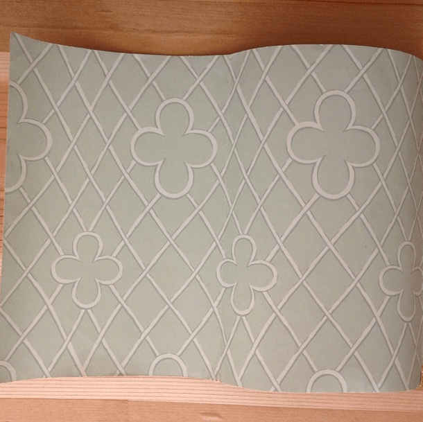 Osborne & Little wallpaper trellis quatrefoil