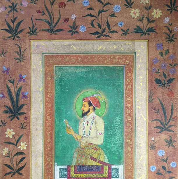 Indian Miniature Painting Shahjahan Taj Majal Rohit New Delhi Mughal Flowers