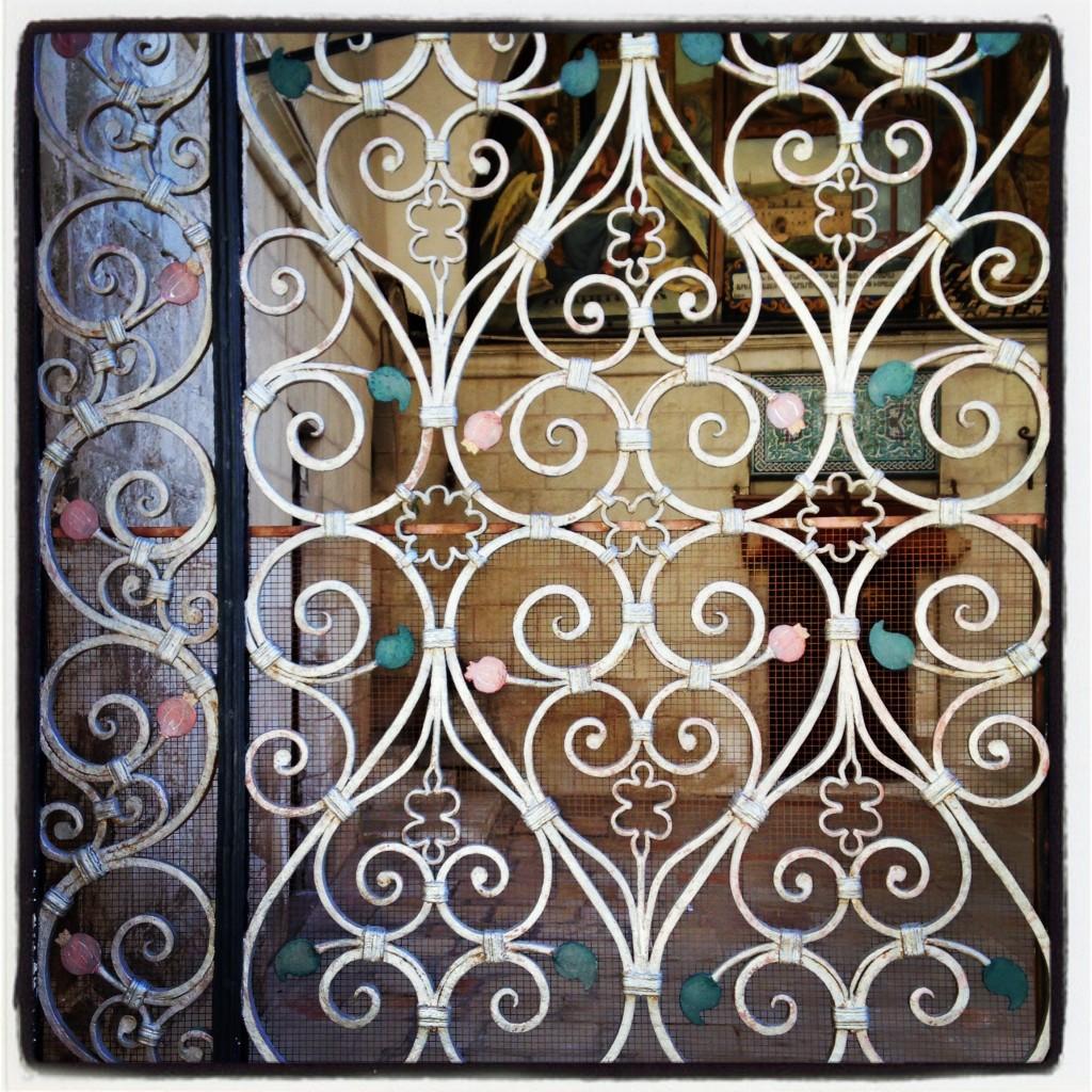 Pomegranate gate Old City Armenian quarter Jerusalem wrought iron