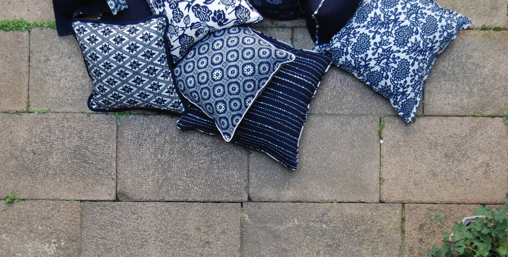 LuRU Home indigo pillows