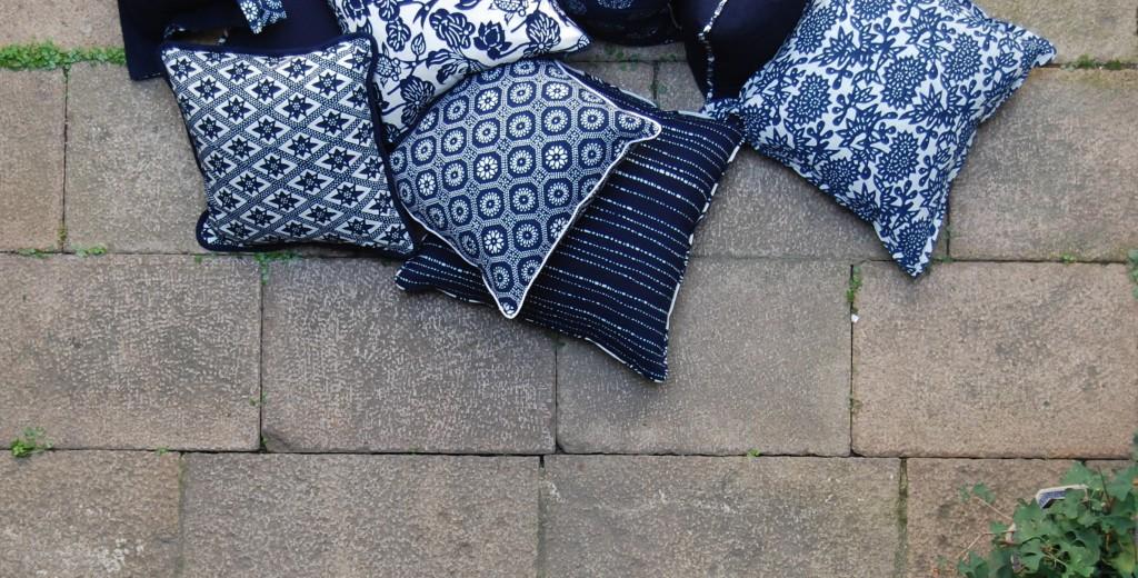 LuRU Home indigo pillows
