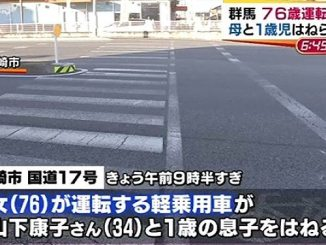 An elderly driver seriously injured a woman and her son at a crossing in Gunma Prefecture (TBS News)