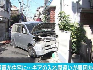 An elderly driver crashed into a house while trying to park