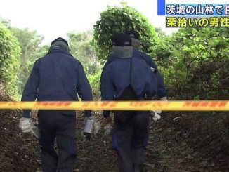 Ibaraki Prefectural Police found human bones buried in a grove of trees after a man reported teh discovery of a skull in the area