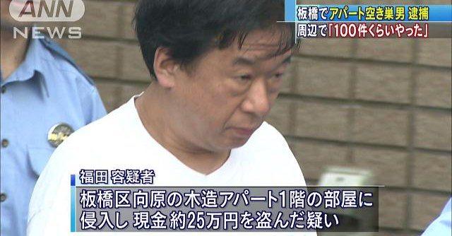 Kosuke Fukuda admits to robbing 100 homes over the past year