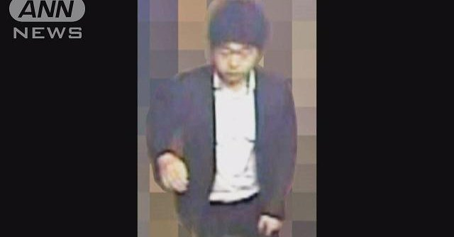 Still image showing man wanted over the molestation of a woman in Ota Ward in June