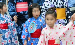 Japan's Demographic Crisis - Children in Yukata