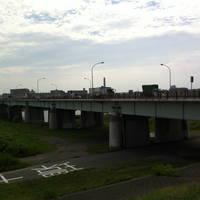 鹿浜橋全景