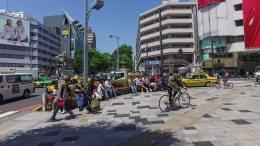 Walking around Omotesando Avenue