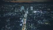 Urban highway in the night