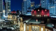 Tokyo Station: contrasts in shapes, in colors