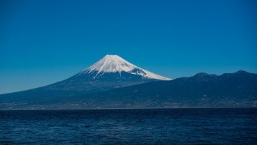 Majestic view of Mount fuji from Osezaki Cap
