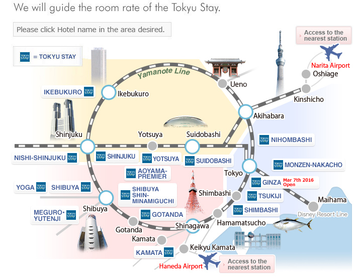 Tokyu Stay Hotels Shibuya Shinagawa Area Apartment Hotels