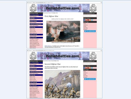 تاریخ مصور جنگ های افغان و انگلیس– لینک