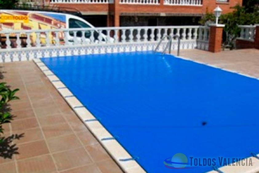 Lona cubre piscina toldos valencia for Piscina climatizada valencia