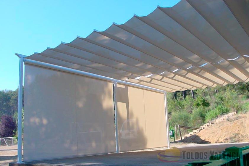 Toldo plano para terrazas toldos valencia - Estructura para toldos ...