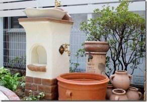 お庭のリフォームの時に設置したスタンドウォッシュリリー