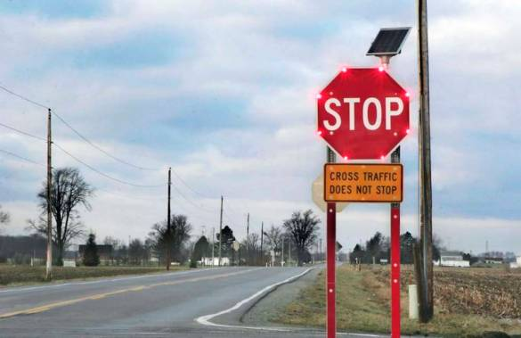 Image result for The Effectiveness of Blinking Warning Signs on the Road