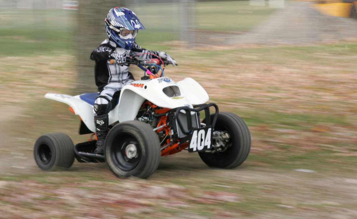 7 Year Old ATV Champion Puts His Focus On Winning The Blade