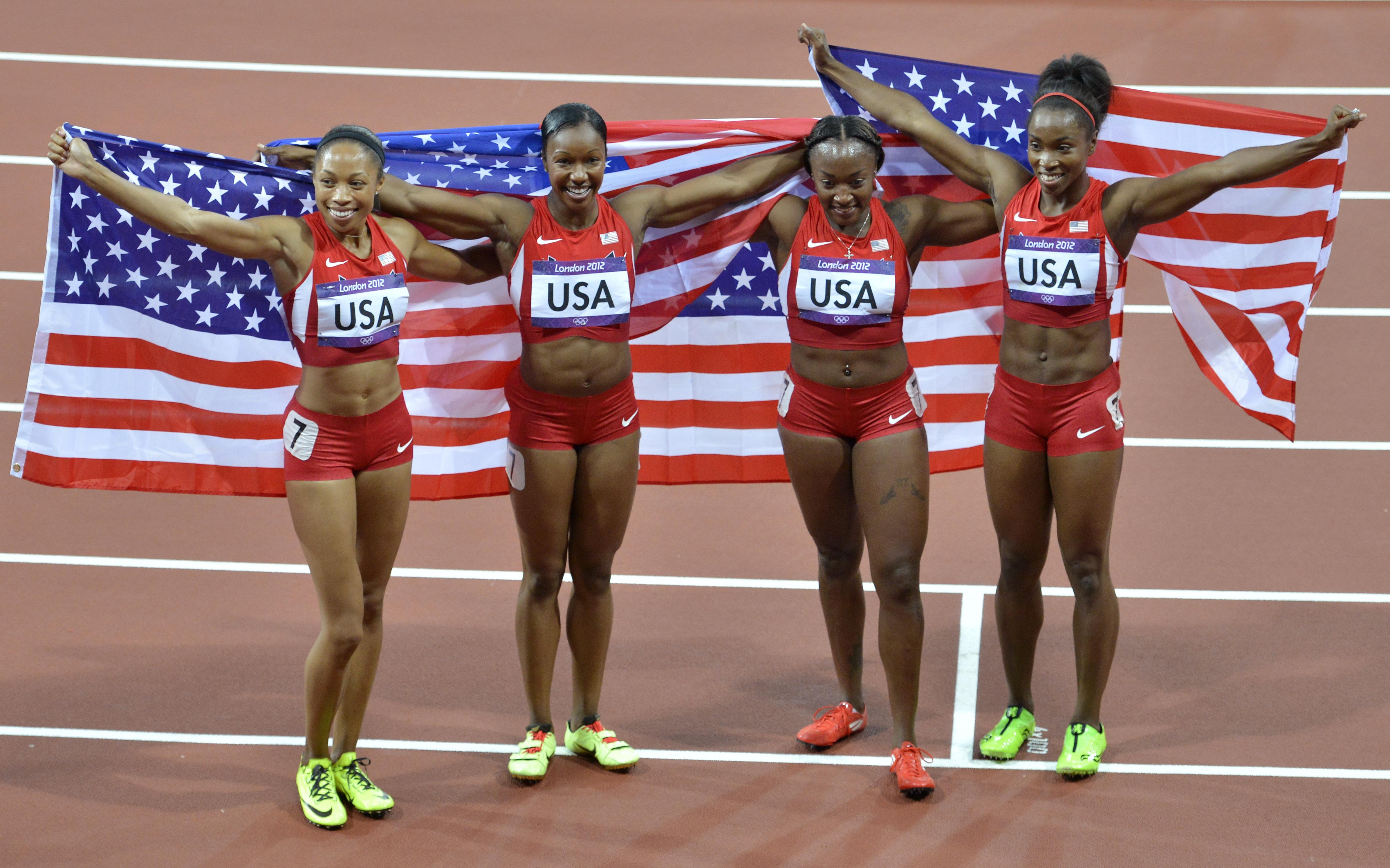 U.S. breaks 27-year-old world record in women's 4x100