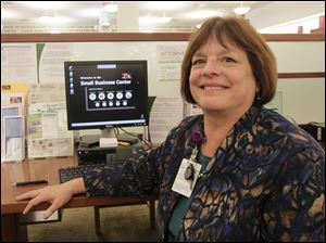 Linda Fayerweather, business-technology specialist for the library.