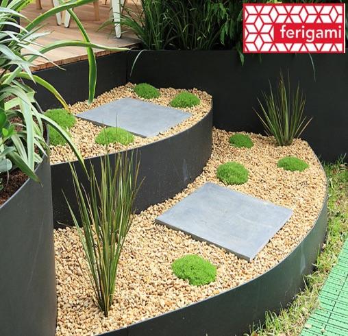 bordures jardin en metal ferigami la