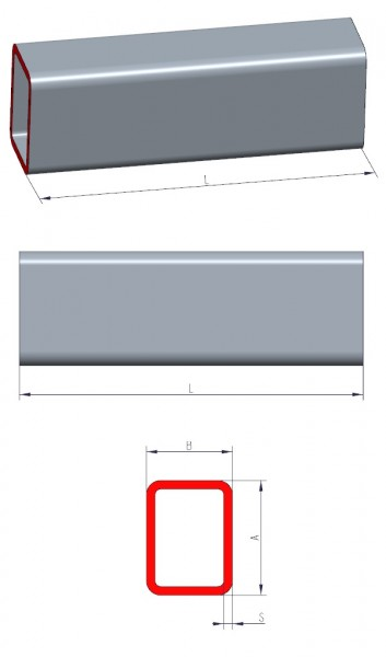 tube rectangulaire en acier les toles