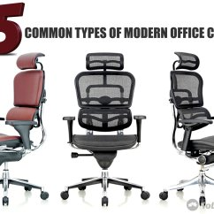 Office Chair Types Metal Frame Dining Chairs 5 Common Of Modern Tolet Insider