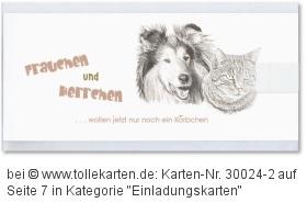 Hochzeitseinladungskarte mit dem Lieblings-Haustier