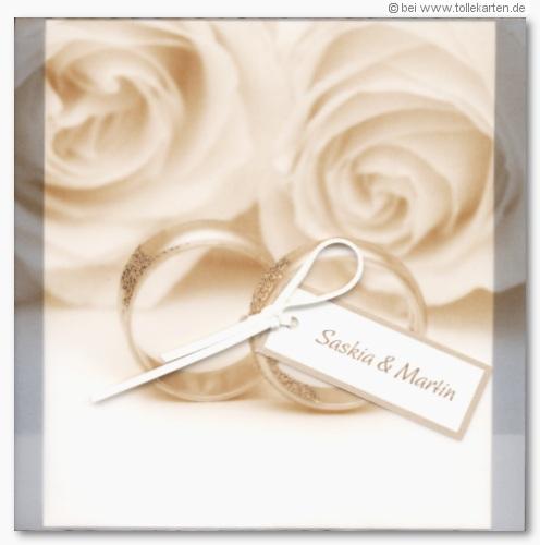 Rosen  Hochzeitskarten