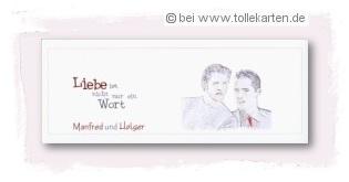 Einladung Mit Eigenem Bild Des Homosexuellen Paares